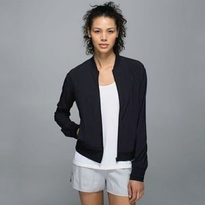 Lululemon Lab Noir Mesh Panel Jacket